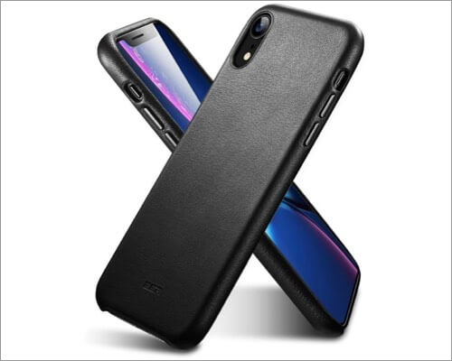 esr premium leather case for iphone xr