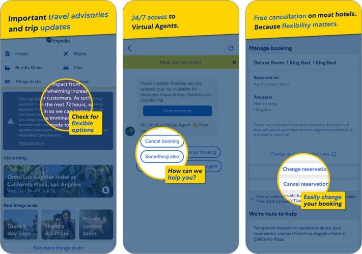 expedia travel planning iphone and ipad app screenshot