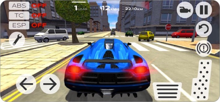 extreme car driving simulator iphone game screenshot