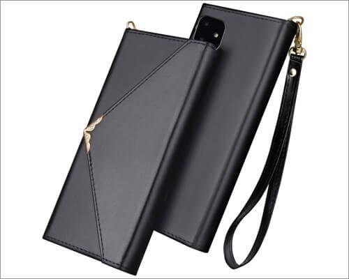 flyee envelope style folio case for iphone 11