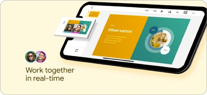 google slides iphone and ipad presentation app screenshot