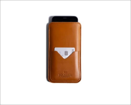 harber london leather sleeve for iphone 11 pro