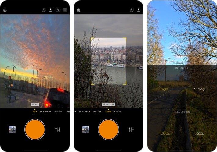 hydra manual iphone camera app screenshot