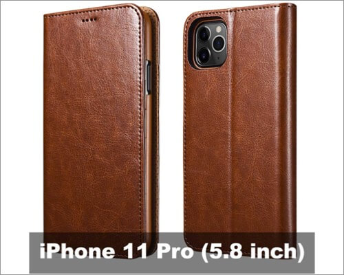 icarercase faux leather case for iphone 11 pro