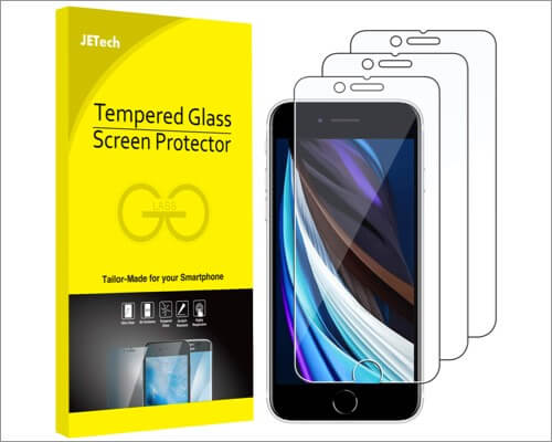 jetech screen protector for iphone se 2020
