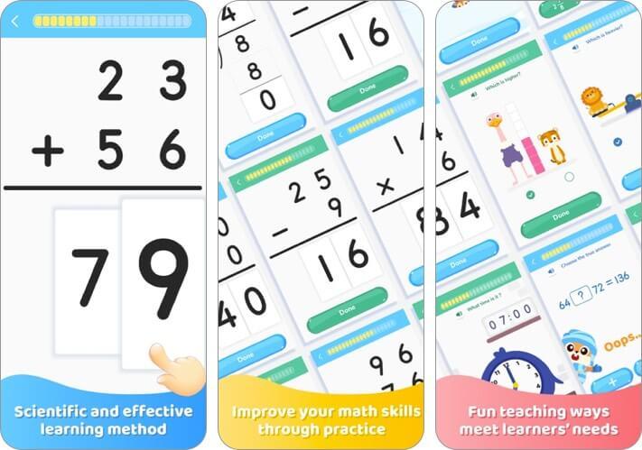 kids learn math training games iphone and ipad app screenshot