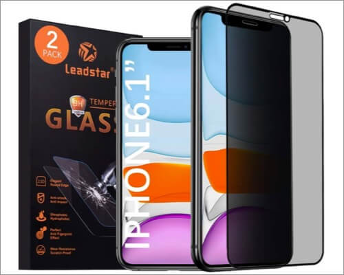 leadstar anti-spy screen protector for iphone xr
