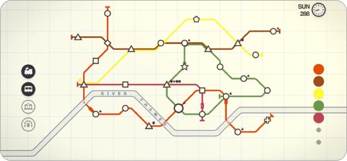 mini metro iphone and ipad offline game screenshot
