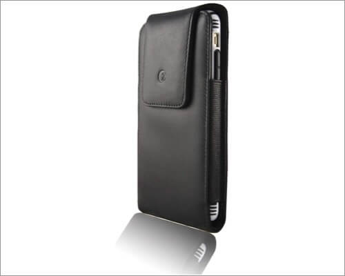monsoon alpha genuine leather belt clip case for iphone 11