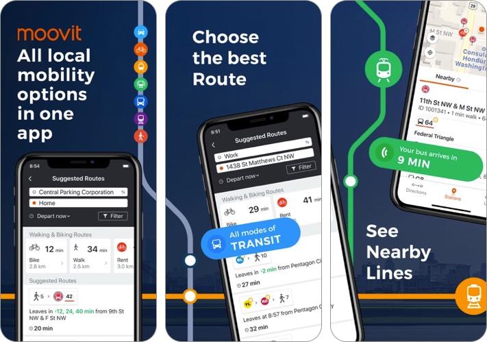 moovit iphone and ipad travel planner app screenshot