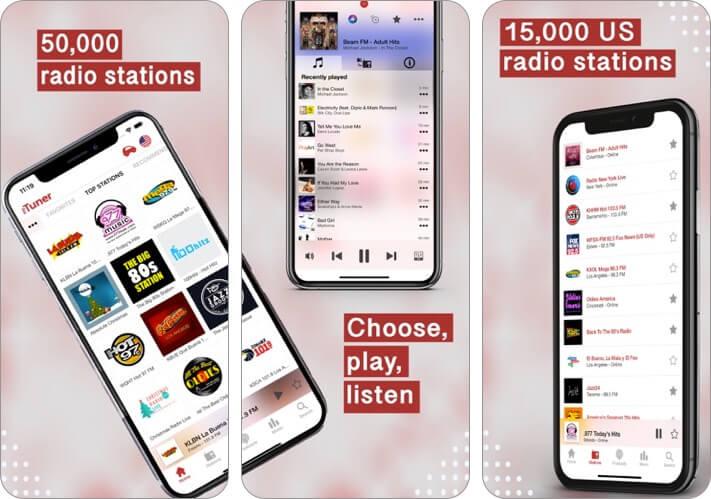 mytuner radio iphone and ipad app screenshot