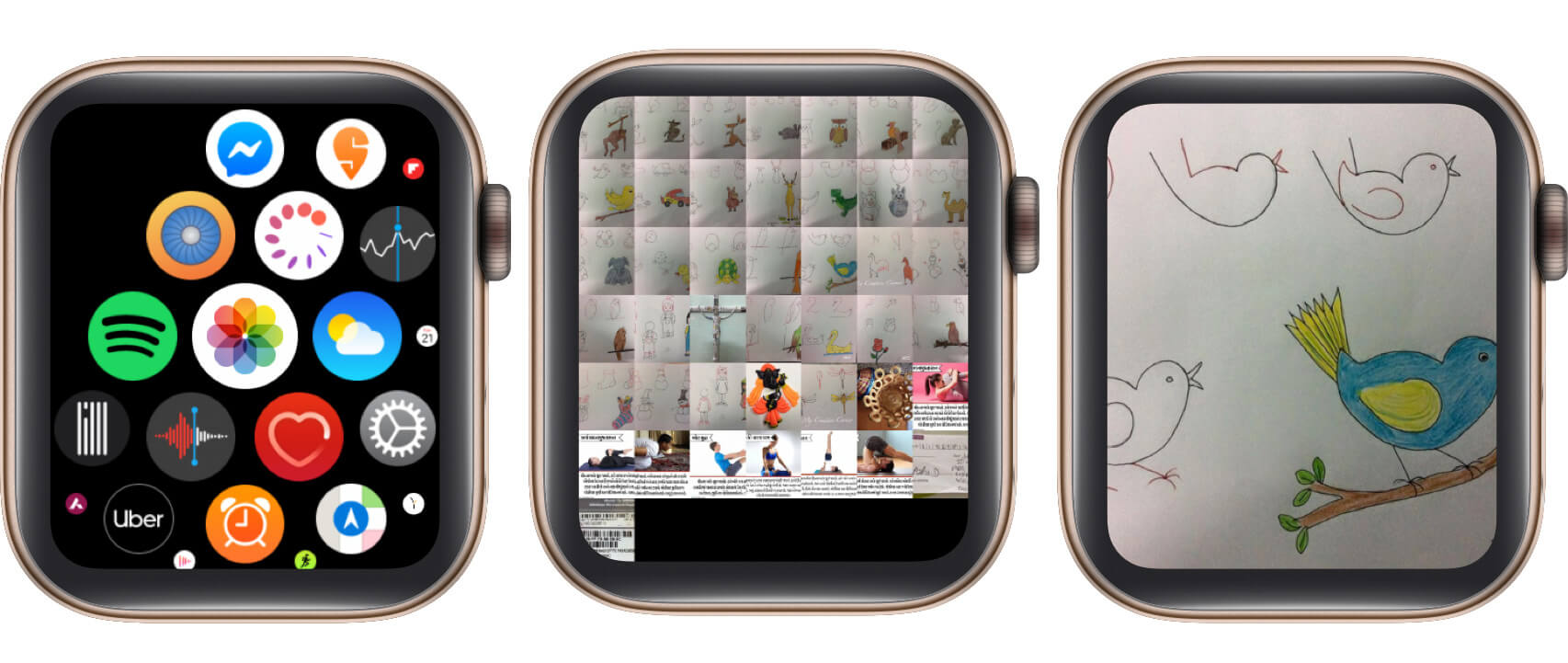 open the Photos app, tap the photo on the Apple Watch