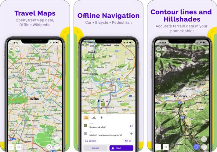 osmand maps iphone and ipad app screenshot