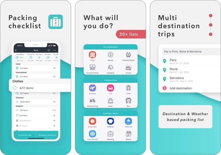 packr iphone and ipad trip planner app screenshot