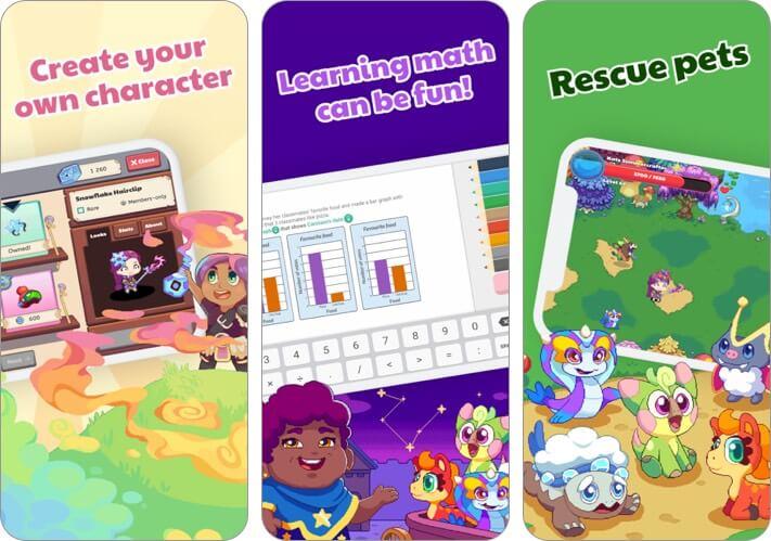 prodigy kids math game iphone and ipad app screenshot