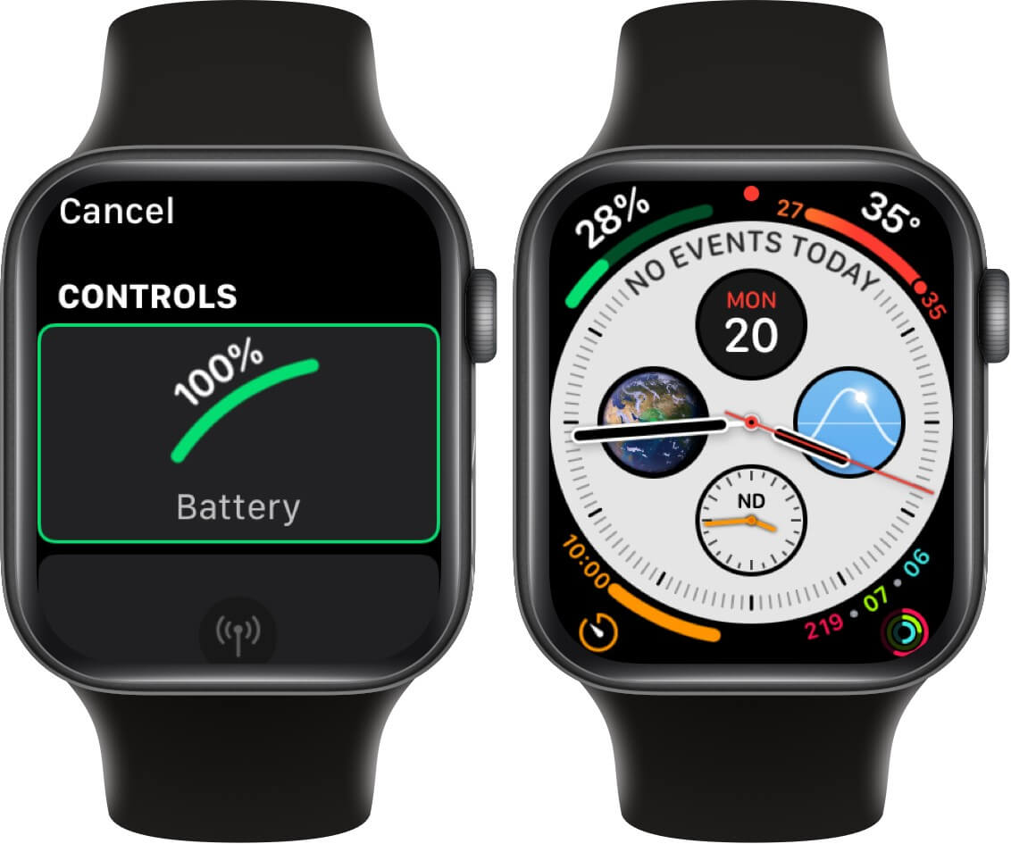 select battery from controls to add battery life complication to watch face