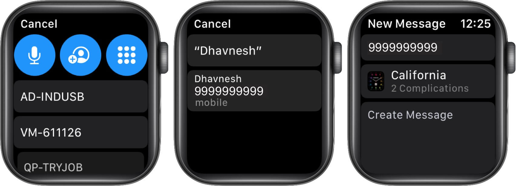 select contact and then tap on watch face in watchos 7 on apple watch