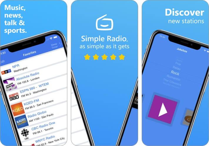 simple radio iphone and ipad app screenshot