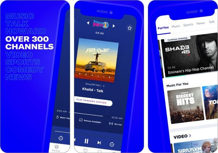 siriusxm iphone and ipad radio app screenshot