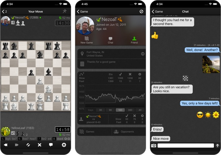 social chess iphone and ipad game screenshot