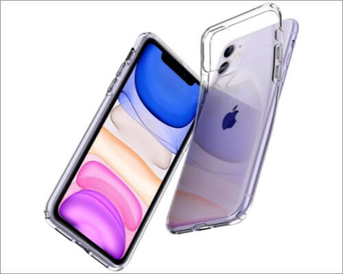 spigen liquid crystal clear slim case for iphone 11