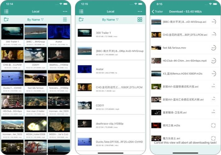 splayer iphone and ipad video player app screenshot