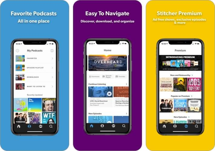 stitcher iphone and ipad radio app screenshot