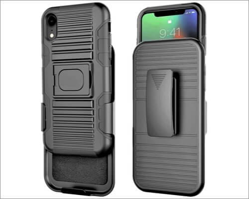 stronden iphone xr belt clip case