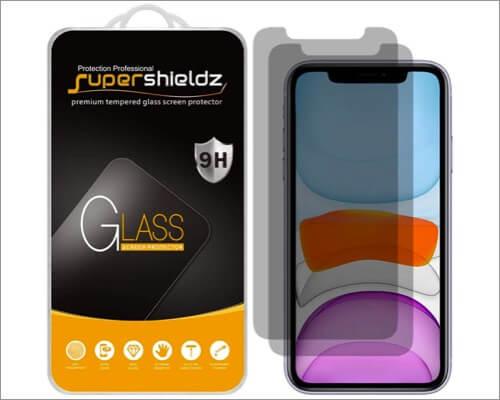 supershieldz iphone xr anti-spy screen protector