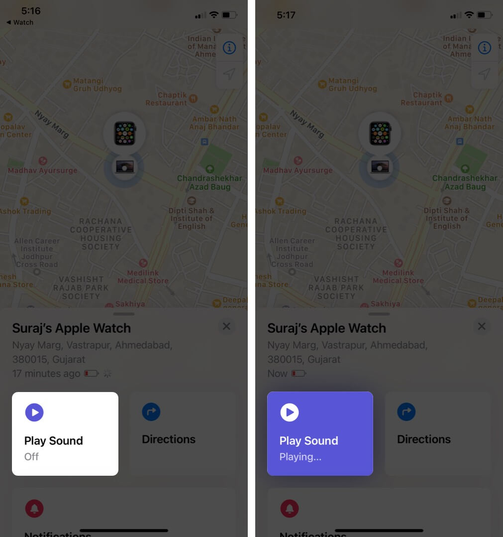 tap game audio to find Apple Watch to unlock it on iPhone