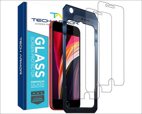 tech tempered glass screen protector for iphone se 2020
