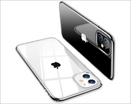 torras crystal clear slim case for iphone 11