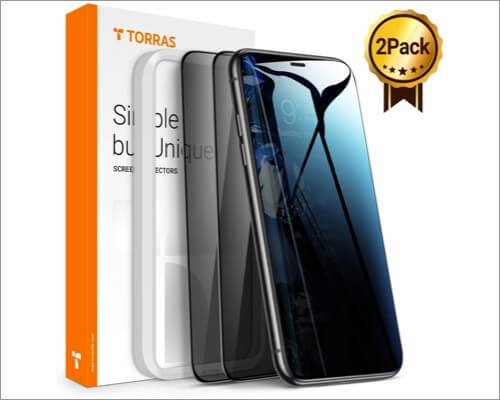torras iphone 11 privacy screen protector