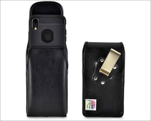 turtleback vertical holster belt clip case for iphone 11