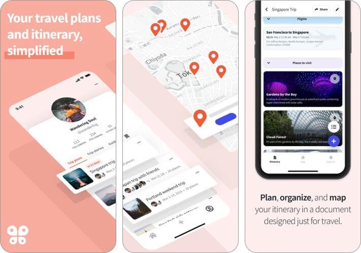 wanderlog trip planner iphone and ipad app screenshot