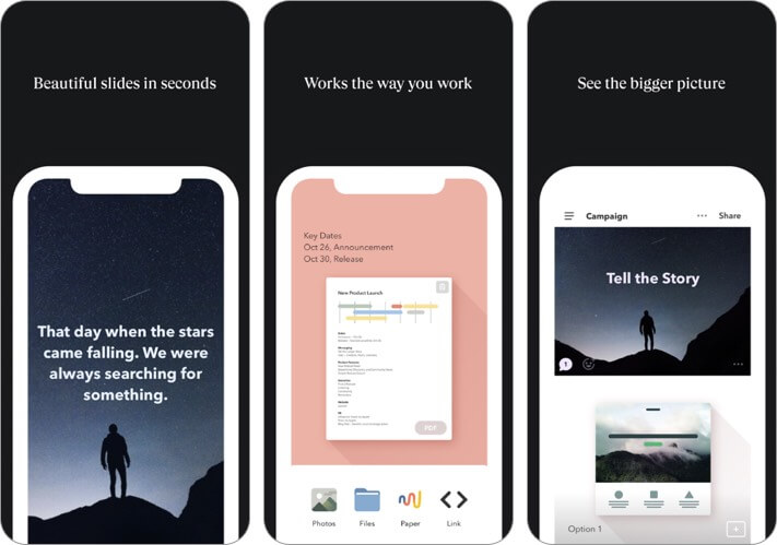 wetransfer iphone and ipad presentation app screenshot