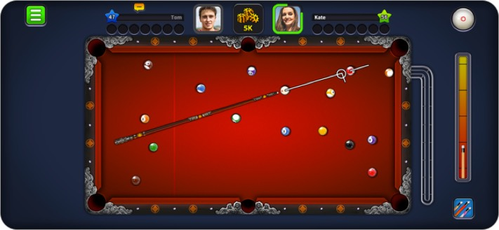 8 ball pool iphone and ipad multiplayer game screenshot