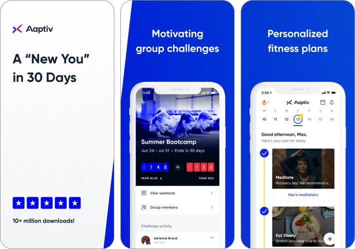 aapti audio fitness app iphone and ipad ai app screenshot