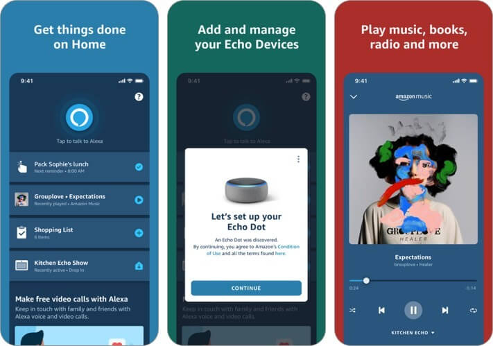 amazon alexa iphone and ipad ai app screenshot