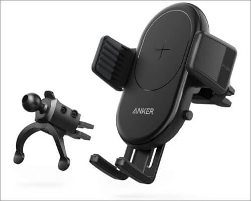 anker powerwave wireless car charger mount for iphone 11, 11 pro and 11 pro max