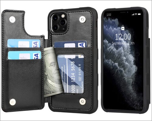 arae pu leather case for iphone 11 pro max