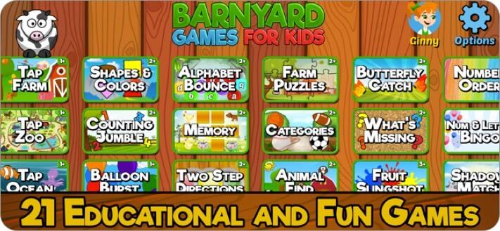 barnyard games for kids iphone and ipad screenshot