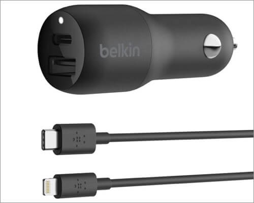belkin usb-c car charger for iphone 11, 11 pro and 11 pro max