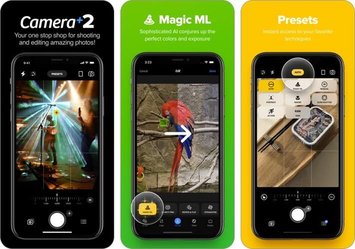 camera 2 screenshot of the self-timer camera app