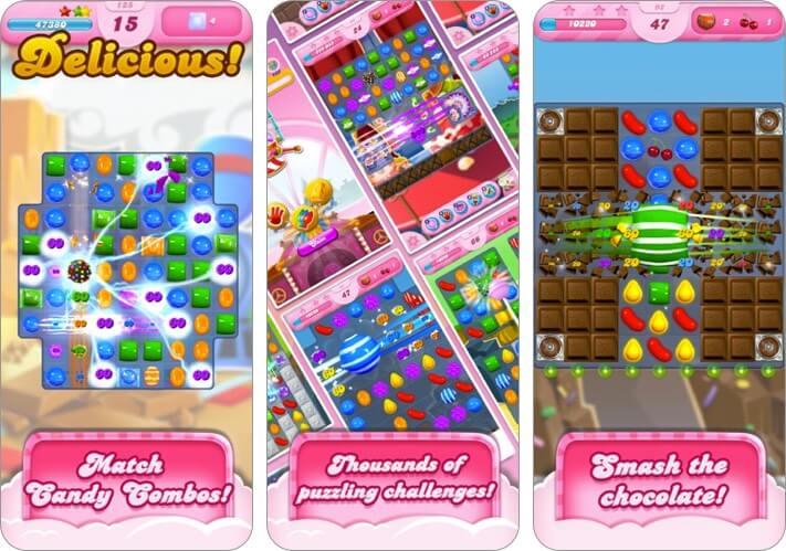 candy crush saga iphone and ipad kids game screenshot