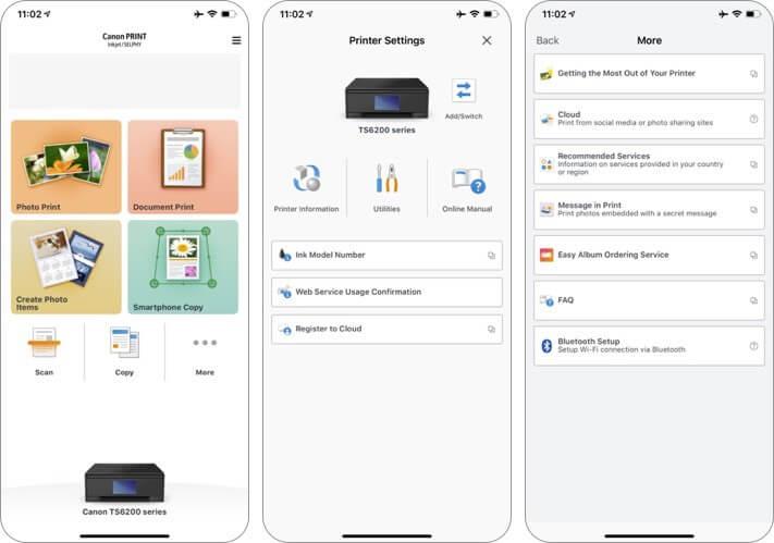 canon print iphone and ipad printing app screenshot