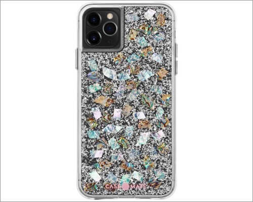 case-mate mother of pearl designer case for iphone 11, 11 pro and 11 pro max