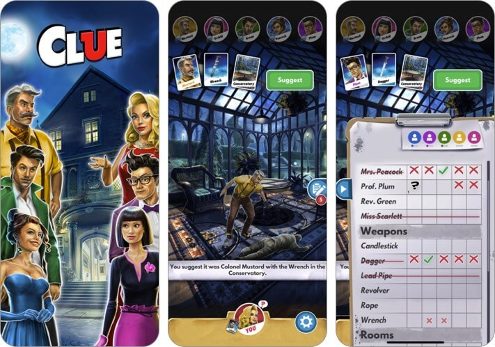 clue: the classic mystery game iphone and ipad app screenshot