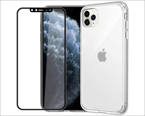 easyacc clear case with screen protector for iphone 11 pro max