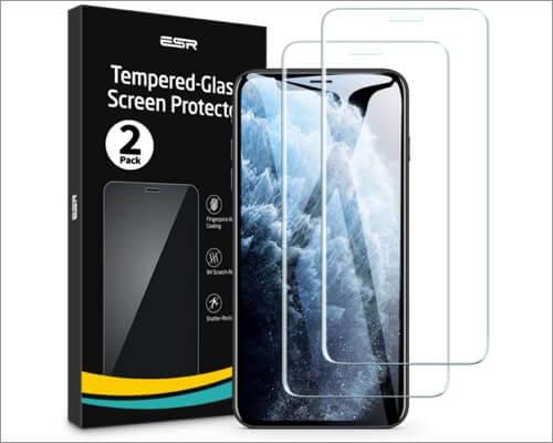esr premium glass screen protector for iphone 11 pro max